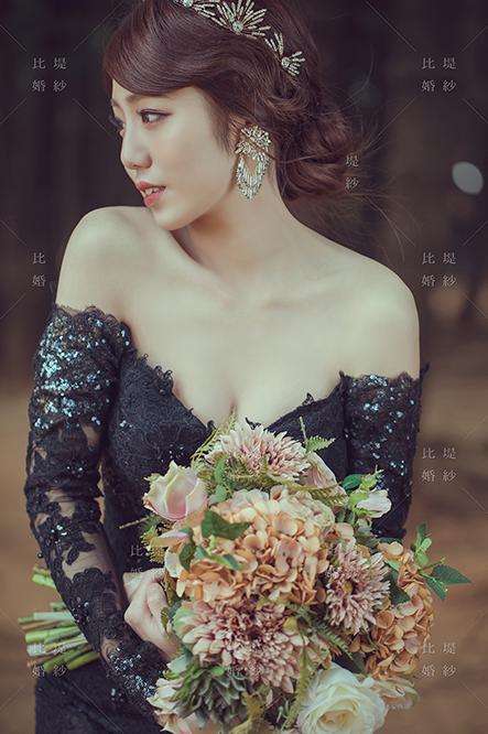 比堤婚紗 推薦新人:煜鈞&偉琪 黑色晚禮服 新娘獨照