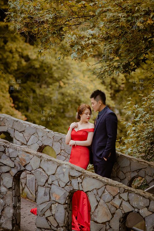 婚紗展 比堤婚紗 推薦新人:聖文&美辰 紅色晚禮服