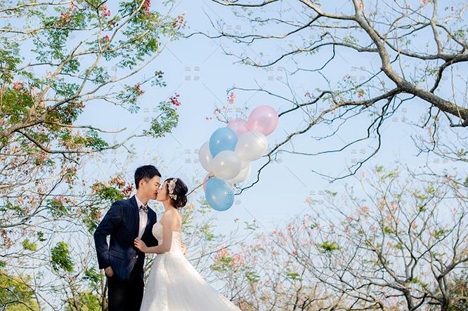 比堤婚紗 推薦新人:Chi You&Runa 都會公園 空飄氣球