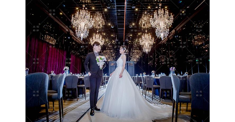 台中婚紗街 比堤婚紗 推薦新人:世孟&文怡 萊特薇庭 宴會廳