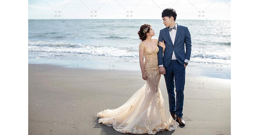 比堤婚紗 推薦新人:Mr. Tsai&Mrs. Huang 海邊浪漫