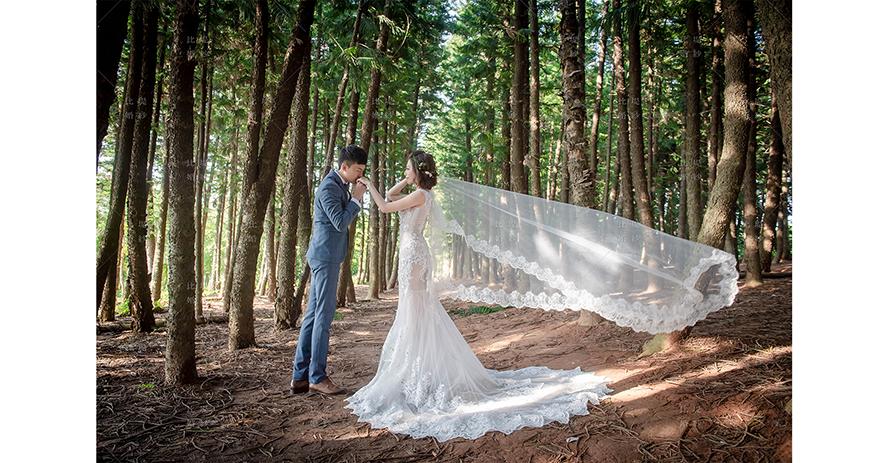 比堤婚紗 推薦新人:家宏&筱平 浪漫唯美的九天黑森林