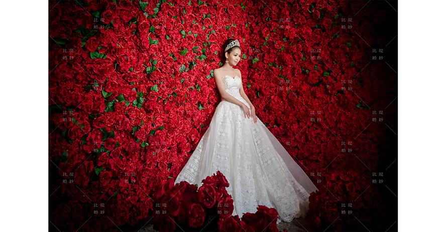 比堤婚紗 推薦新人:詠寬&筱薇 紅玫瑰花牆