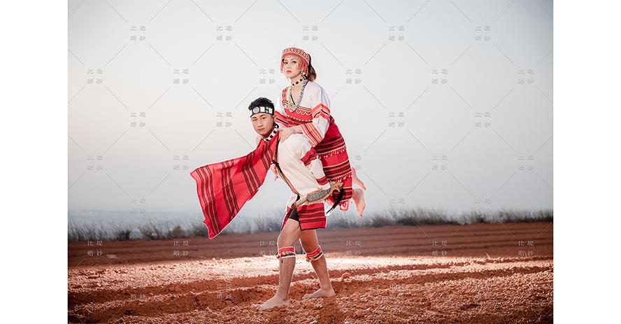 婚紗攝影 比堤婚紗 推薦新人:Yin Sanity&Yuko Jiang 原住民傳統服裝