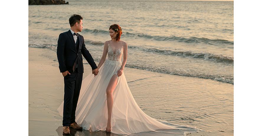 婚禮攝影 比堤婚紗 推薦新人:Mr. Wang&Mrs. Chang 海邊夕陽