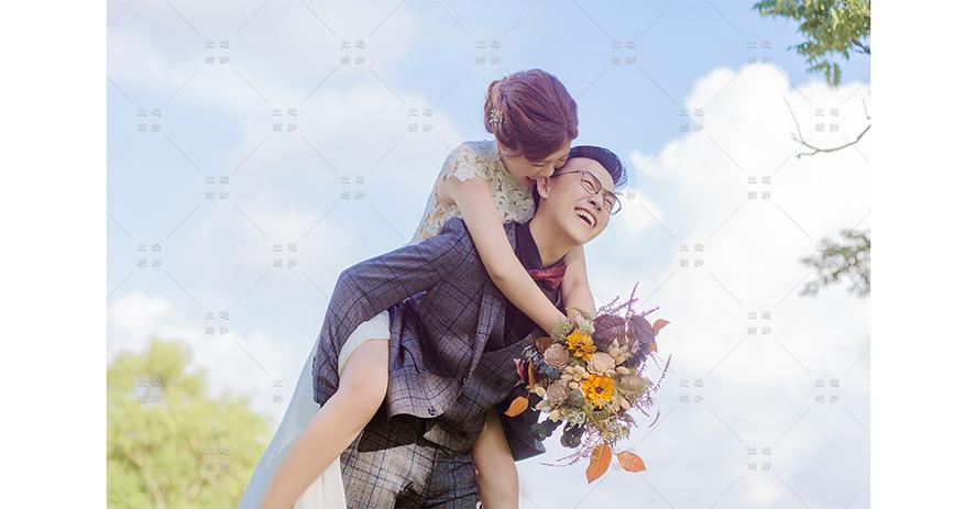 婚禮 博覽會 比堤婚紗 推薦新人:Mr. Su&Mrs. Chao 俏皮婚紗照