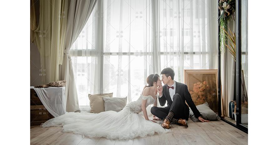 台中韓系婚紗 比堤婚紗 推薦新人:嘉佑&婷雅 韓風白紗