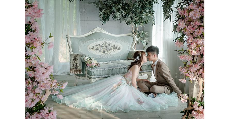 婚紗店 推薦 比堤婚紗 推薦新人:Mr. Chen&Mrs. Chung 彩色蕾絲晚禮服