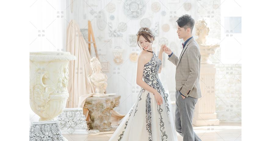 宴客禮服 比堤婚紗 推薦新人:Mr. Lin&Mrs. Tsai 影相視務所 黑色蕾絲白紗