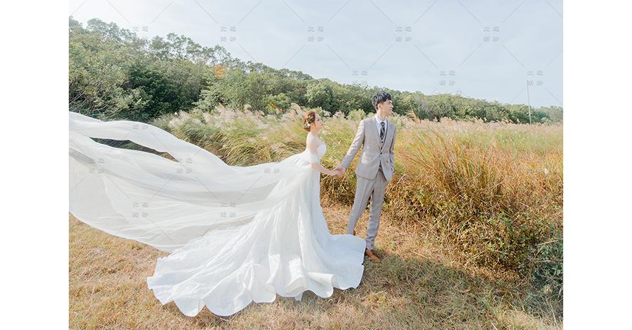 婚紗 博覽會 比堤婚紗 推薦客人:祥恩&婕容 都會公園 管芒花